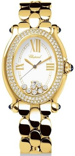 Chopard Happy Sport Oval 7 Diamonds (YG-Diamonds / Silver / YG) 277079-0002