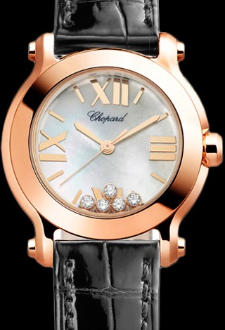 Chopard Happy Sport Round 30mm 5 Diamonds Edition 2 274189-5001