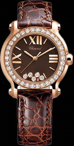 Chopard Happy Sport Round 30mm 5 Diamonds Edition 2 274189-5006