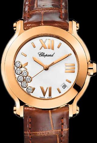 Chopard Happy Sport Round 36mm 7 Diamonds Edition 2 277471-5001 Brown