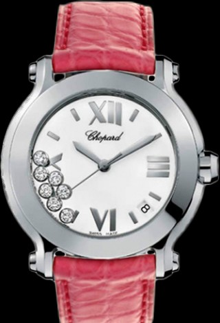 Chopard Happy Sport Round 36mm 7 Diamonds Edition 2 278475-3001 Pink