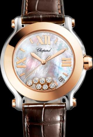 Chopard Happy Sport Round 36mm 7 Diamonds Edition 2 278492-9004 Brown