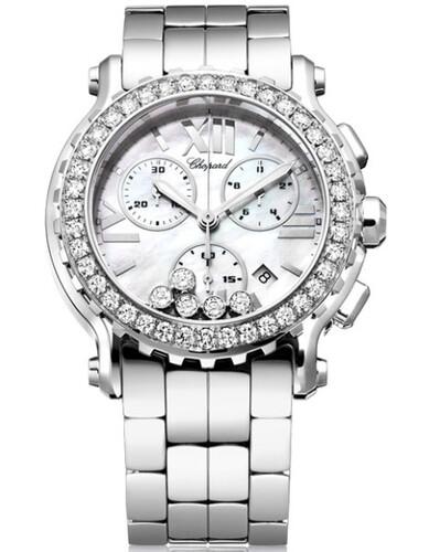 Chopard Happy Sport Round 5 Diamonds (WG / SS / MOP / Bracelet) 288506-2005