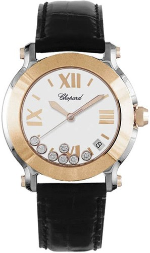 Chopard Happy Sport Round 7 Diamonds Round (RG - SS) 278492-9001