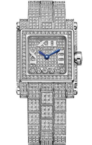 Chopard Happy Sport Square 5 Diamonds (WG / Diamonds / Diamond Bracelet) 275349-1002
