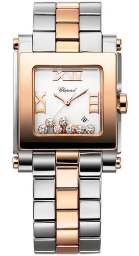 Chopard Happy Sport Square 7 Diamonds (RG / SS/ / Bracelet) 278498-9001