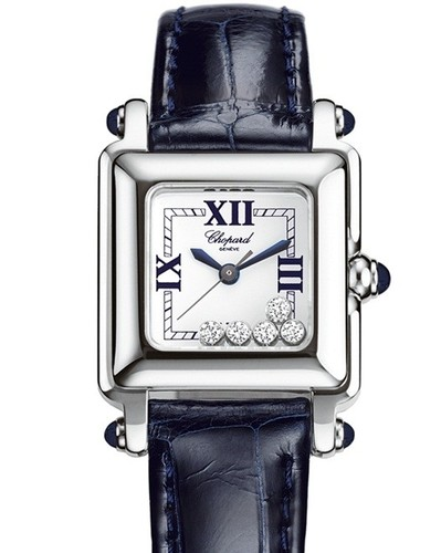 Chopard Happy Sport Square Carre (SS / Silver / Leather) 278892-3004