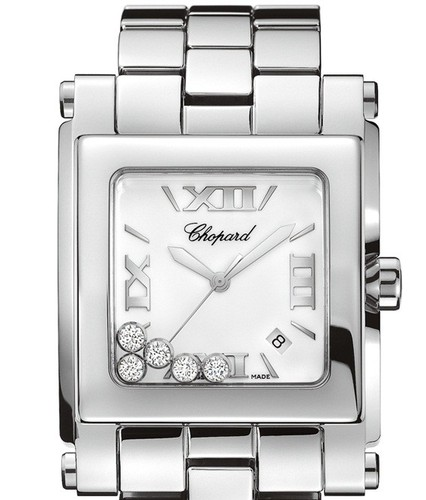 Chopard Happy Sport Square XL (SS / Silver / SS) 288467-3001