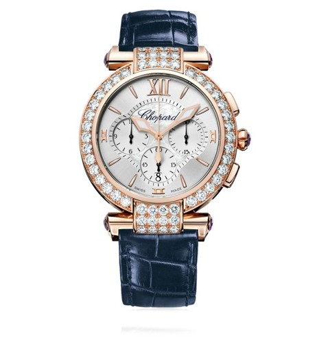 Chopard Imperiale Chronograph (RG-Diamonds / MOP / Leather Strap) 384211-5003