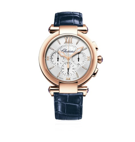 Chopard Imperiale Chronograph (RG / MOP / Leather Strap) 384211-5001
