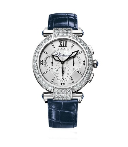 Chopard Imperiale Chronograph (WG-Diamonds / MOP / Leather Strap) 384211-1001