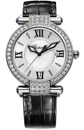 Chopard Imperiale Ladies (WG-Diamonds / Silver / Leather Strap) 384221-1001