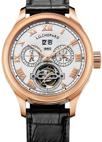 Chopard LUC 150 All in One (RG / White / Leather Strap) 161925-5001