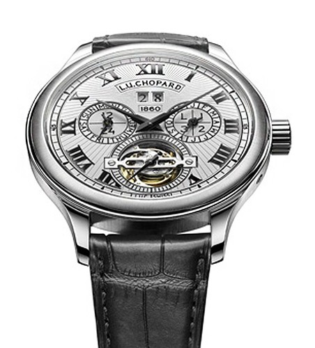 Chopard LUC 150 All in One (WG / White / Leather Strap) 171925-1001