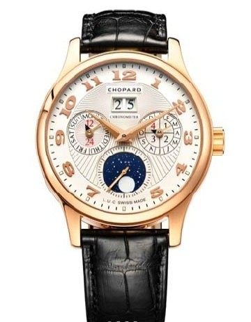 Chopard L.U.C. Lunar One (RG / White / Leather) 161894-5001