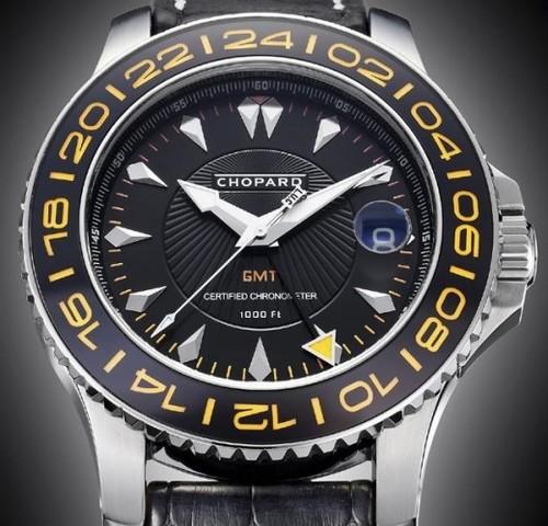 Chopard L.U.C. Pro One GMT (SS / Black / Leather) 168959-3001