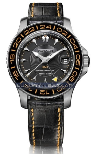 Chopard L.U.C. Pro One GMT (SS / Silver / Black / Leather) 158959-3001