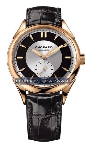 Chopard L.U.C. Qualite Fleurier (RG / Silver / Black / Leather) 161896-5001
