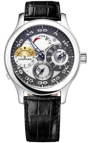 Chopard L.U.C. Regulateur (SS / Silver / Leather) 168449-3001