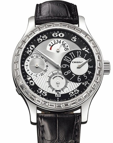 Chopard L.U.C. Regulateur (WG-Diamonds / Silver / Leather) 171910-1001