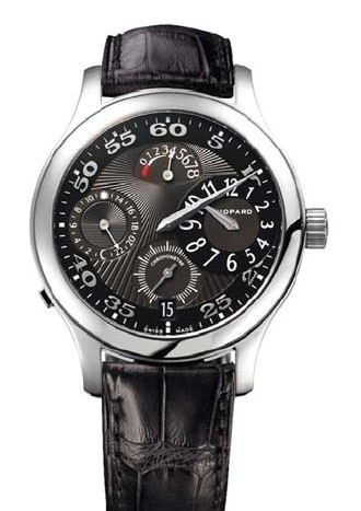 Chopard L.U.C. Regulator (SS / Black / Leather) 168449-3003