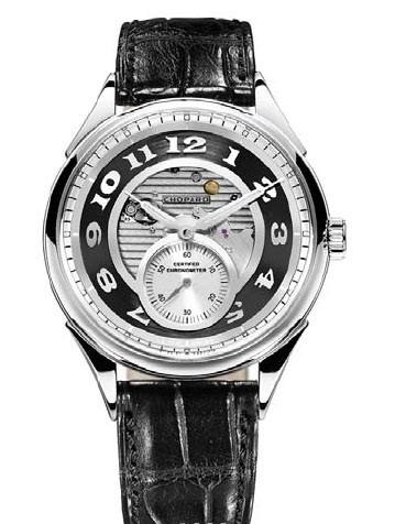 Chopard L.U.C. Tech Qualite Fleurier (WG / Silver / Leather) 161896-1004