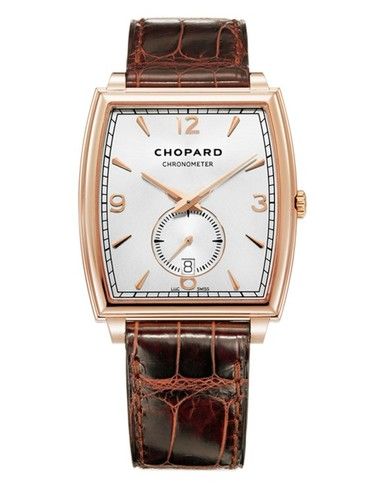 Chopard L.U.C. XP Tonneau (RG / White / Leather Strap) 162294-5001