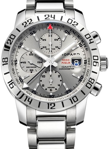 Chopard Mille Miglia GMT Chrono (SS / Gray / Bracelet) 158992-3005
