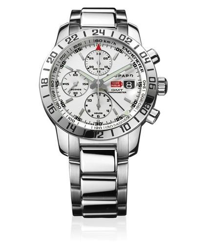 Chopard Mille Miglia GMT Chrono (SS / White / SS Bracelet) 158992-3002