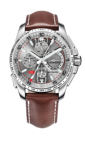 Chopard Mille Miglia GT XL Chrono Split Second (SS/ Silver / Leather) 168513-3001