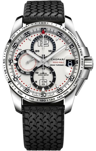 Chopard Mille Miglia GT XL Chrono (SS / White / Rubber) 168459-3015