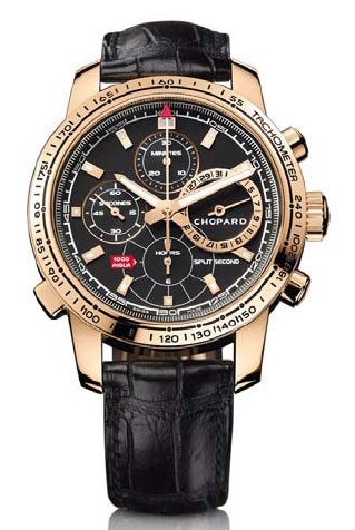 Chopard Mille Miglia Split Second (RG / Black / Leather) 161261-5001