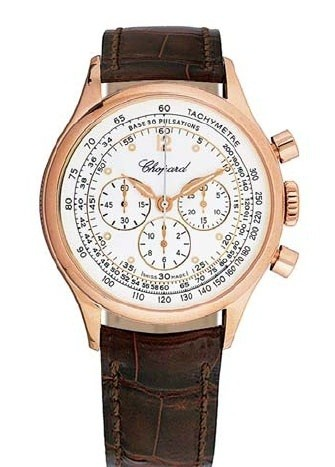 Chopard Mille Miglia Vintage Chrono (RG / White / Leather) 161889-5001