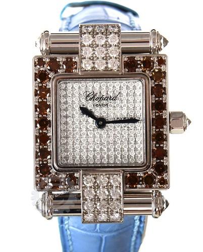 Chopard Square Imperiale with Cognac Diamond Bezel 38/3447/52