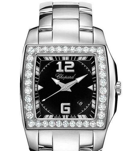Chopard Ten O Two Lady (SS-WG-Diamonds / Black / SS) 108464-2001
