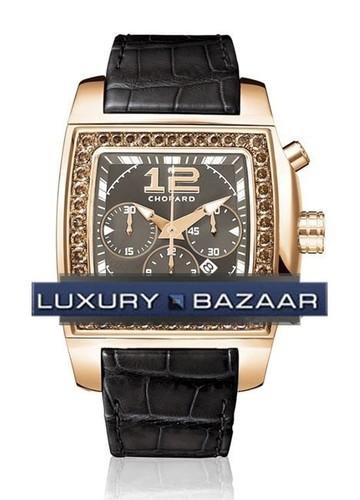 Chopard Two O Ten Sport (RG-Diamonds / Black / Leather) 172287-5001