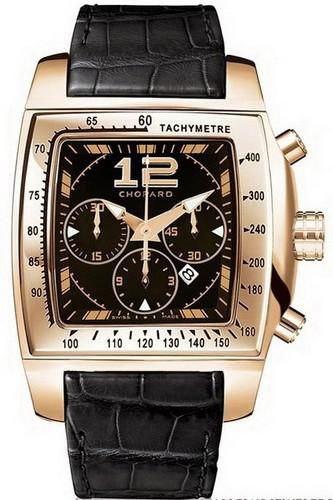 Chopard Two O Ten Sport (RG / Black / Leather) 162287-5001