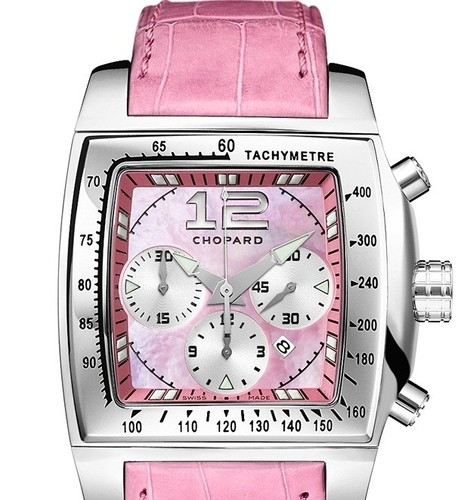 Chopard Two O Ten Sport (SS / Pink MOP / Leather) 168462-3002