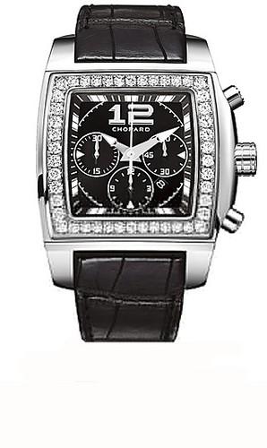 Chopard Two O Ten Sport (WG-Diamonds / Black / Leather) 178494-2001
