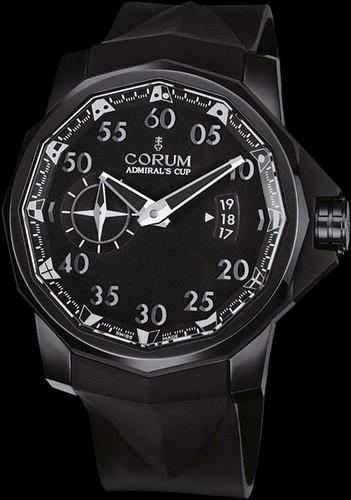 Corum Admirals Cup Black Competition 48 (Ti-BLK PVD / Black / Rubber)
