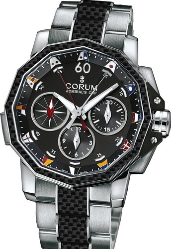 Corum Admirals Cup Challenge 44 Split Seconds (SS-Carbon / Black / Bracelet)