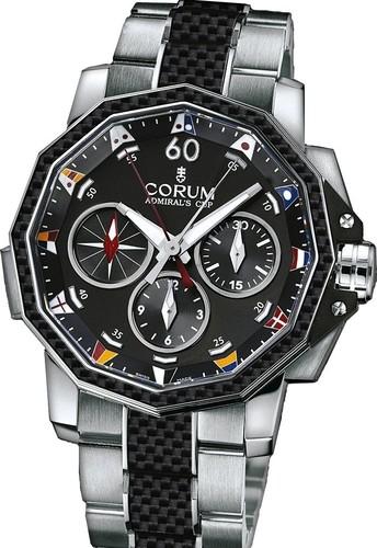 Corum Admirals Cup Challenge 44 Split Seconds (SS-Carbon / Black / Bracelet)