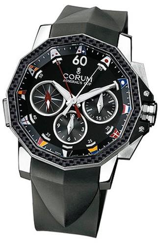 Corum Admirals Cup Challenge 44 Split Seconds (SS-Carbon / Black / Rubber)