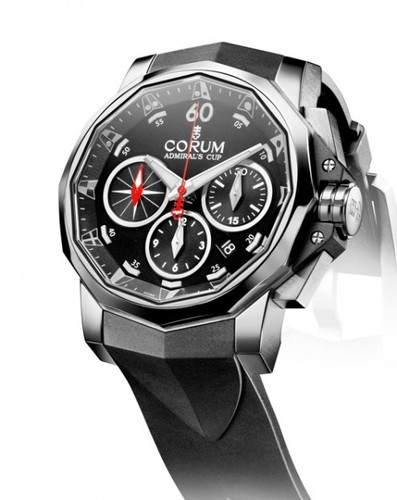 Corum Admirals Cup Challenge Chronograph (SS / Black / Strap)