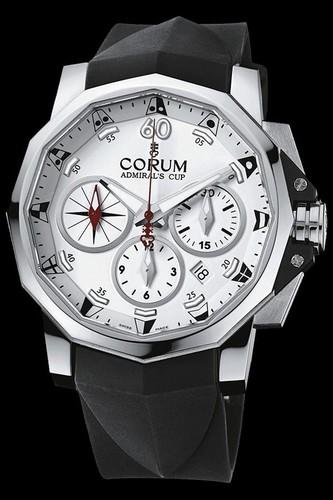 Corum Admirals Cup Challenge Chronograph (SS / White / Strap)