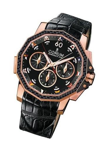 Corum Admiral's Cup Challenge Split-Second (RG / Black / Leather)