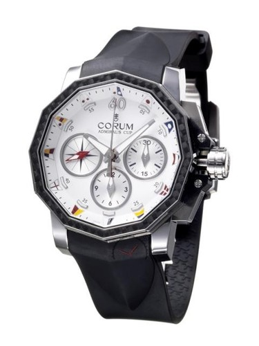 Corum Admiral's Cup Challenge Split-Second (SS-Carbon /White/Rubber)