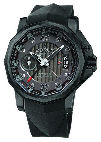 Corum Admirals Cup Chrono Centro Mono Pusher 44 (Ti / Black / Strap)
