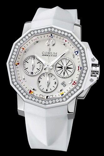 Corum Admirals Cup Chronograph 40 Diamonds (SS- Diamonds)