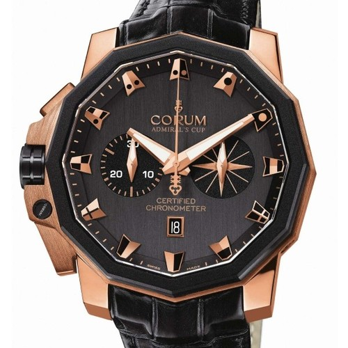 Corum Admiral's Cup Chronograph 50 LHS (RG / Black / Leather)